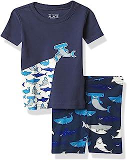 The Children's Place 男婴鲨鱼两件套睡衣套装