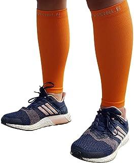 BeVisible 运动小腿压缩袖 - 小腿夹板腿压缩袜 男女适用 | 小腿袖子适合跑步、骑行、旅行和恢复