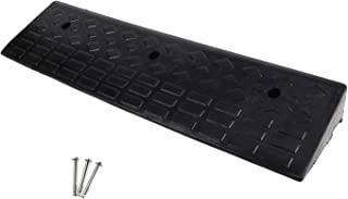 MYOYAY 3.93 英寸橡胶挡板重型橡胶门槛 10 吨汽车路边车道斜坡,用于装载码头人行道轮椅,39.37 英寸(长)x 9.84 英寸(宽) x 3.93 英寸(高)
