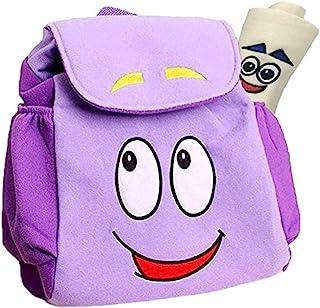 Dora Explorer 背包 朵拉包,12.5 英寸 Dora Explorer 救援包,带地图 浅紫色