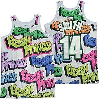 BRFOX 史密斯 #14 The Fresh Prince of Bel-Air 涂鸦篮球运动衫男式无袖上衣
