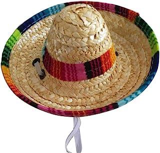 Mexican Hats Sombrero 派对帽狗狗 Sombrero 帽子迷你稻草 Sombrero 帽子适合小型宠物小狗猫