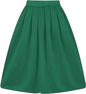 Taydey A 字型褶皱复古女式裙
