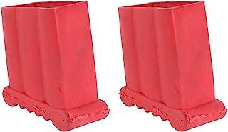 WINOMO 2 件套防滑梯子脚橡胶梯子配件替换梯子脚垫垫(红色)