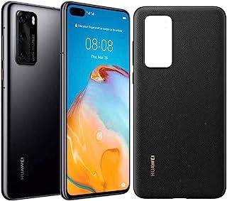 Huawei 华为 P40 128 GB 6.1 英寸智能手机套装,带 PU 外壳,Kirin 990 5G,50 MP Ultra Vision Leica 三摄像头,8 GB 内存,22.5W 超负荷,无锁卡Android 手机,双 SIM...