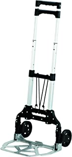 Safco Products 4049NC Stow and Go Utility Hand Truck, Silver/Black