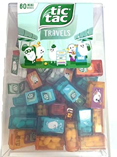 TIC TAC Box with 60 Mini Boxes (Mint, Orange, Spearmint, Peach and Passion fruit)