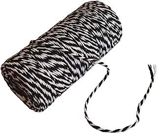 黑色白色绳索礼品包装棉烘焙器绳子 2mm 艺术工艺绳圣诞节日派对装饰绳