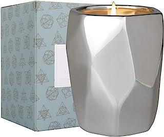 LA JOLIE MUSE 松木桦木香味蜡烛,家庭香味蜡烛,天然大豆蜡烛,80 小时燃烧,陶瓷罐蜡烛礼物,银桦木,10 盎司