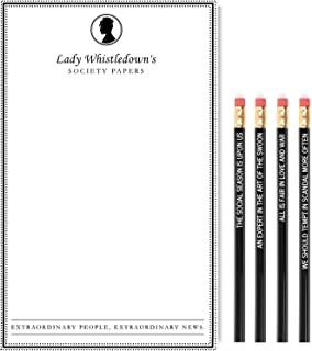 Cool TV Props - Bridgerton Lady Whistledown 记事本和铅笔套装 - Bridgerton 电视节目商品