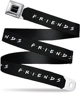 Buckle-Down 皮带*带带扣朋友标志黑白色多色男式女式儿童可调节