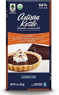 Artisan Kettle Organic Baking Bar, Bittersweet, 4 Ounce (Pack of 12)