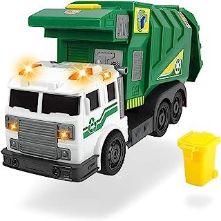 Dickie Toys City Cleaner,交通工具,街道清洁,垃圾车,电池供电升降机,打开后挡板,包括电池,39厘米,*,适合 3 岁以上儿童