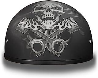 Daytona 头盔摩托车半盔骷髅帽 - 活塞骷髅 * DOT 认证