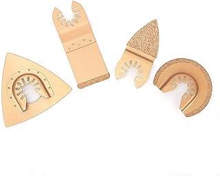 振荡锯片、多工具刀片、多工具刀片套件摆动工具刀片 4 件木材