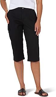 Lee 女士 Flex-to-Go Cargo Skimmer 七分裤,黑色,16