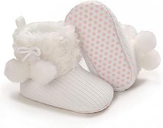 婴儿靴冬季女婴鞋软底防滑幼儿保暖学步鞋新生儿雪地靴