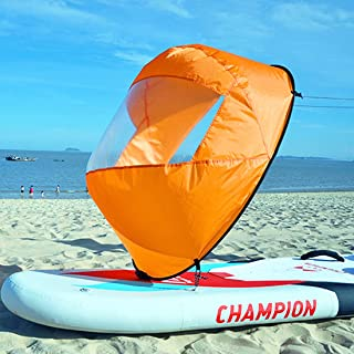 Idefair Downwind Sail,皮划艇风帆 Canoe 下风帆 可折叠桨 即时帆套件 划船帆 带透明窗皮划艇 皮划艇 可充气船配件