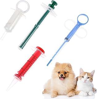 PIAOPIAONIU 4 件宠物猫狗药丸射手*器宠物*喂食器灌装器可重复使用的*喂食工具,适用于猫、狗和小动物