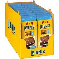 Leibniz 饼干 'n 奶油牛奶包 14 个-两个巧克力可可饼干与奶油填充物-巧克力片饼干-可重新密封(14 x 1…