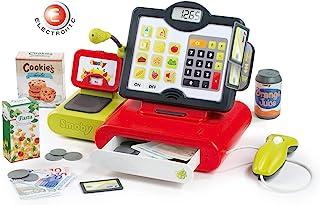 Smoby 智比 350103WEB 电子超市收银机 适用于3岁以上儿童的机械游戏收银机 红色