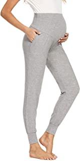 Shen&Qege 女式孕妇裤腹部休闲运动裤 弹性舒适孕妇裤带口袋
