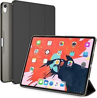 Maxboost iPad Pro 12.9 英寸保护套 2018 磁性智能 PU 皮革前盖 + 支架/自动唤醒/休眠设计/半透明哑光磨砂硬质混合外壳兼容苹果 iPad Pro 12.9 英寸