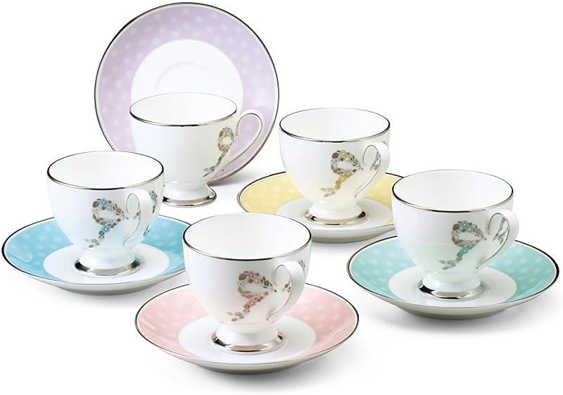 Narumi 鸣海 Felicita系列 骨瓷咖啡杯碟套装 5套 96132-21755P 镇店之宝¥695.7 可3件9折