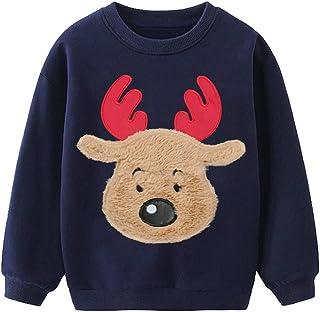 Little Hand 幼儿男婴圣诞毛衣恐龙针织毛衣冬季套衫保暖运动衫