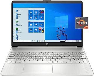 轻薄 HP 15 触摸屏 15.6 英寸笔记本电脑,Ryzen 7 5700U,HP 网络摄像头,高清音频,Wi-Fi 6,蓝牙,HDMI,USB-C,AMD Radeon Graphic,Windows 10 家庭版,w/ Tikbot 配...