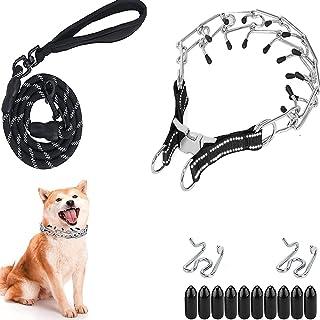 SWROOM 狗爪项圈,适合中型大型犬的夹颈项圈,快速释放的颈圈,可调节连接带舒适橡胶头按扣,M(颈围 40.64-45.72 厘米,约 22.72 千克)