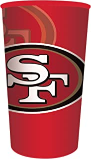 Creative Converting 官方* NFL 纸碗,8 只,20 盎司,旧金山 49ers Souvenir Cups 22盎司 119527