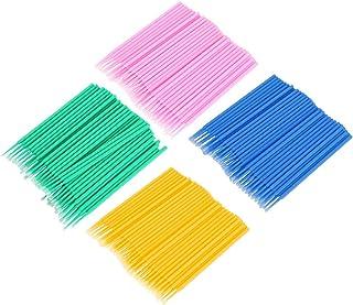 棉棒,400 片一次性棉棒睫毛清洁棒,微刷棉签睫毛,轻