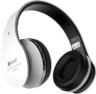 无线耳机 Aita BT809 头戴式蓝牙降噪耳机,可折叠耳机游戏跑步运动耳机带麦克风,适用于 iPhone、电视、平板电脑、MP3 等,适合成人青少年儿童(白色)