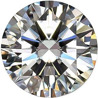 A 级白色莫桑石钻石 1.25 克拉圆形钻石,VVS1 净度颜色 DF 散装白色莫桑石钻石宝石