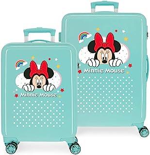 Disney 迪士尼米妮彩虹行李箱套装,55/68 厘米 * 55/68 cms
