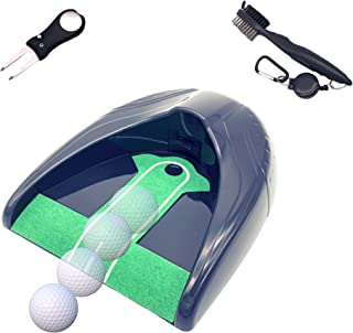 Nitrovo 自动推杆*训练器高尔夫礼品套装,带草皮工具,槽清洁刷 - 男女高尔夫配件,高尔夫训练设备,自动室内推杆*,高尔夫练习