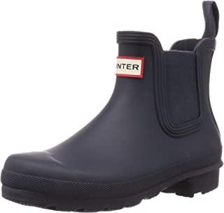 HUNTER Boot 女式原装 Chelsea 雨靴 *蓝 7 中码 美国