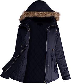 女士 Code 女式人造皮草连帽休闲外套冬季衬垫夹克青少年尺码