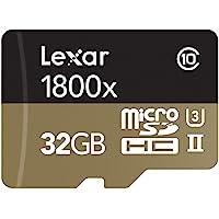 Lexar Professional 1800x microSDHC 32GB UHS-II W/USB 3.0 Rea…