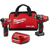 Milwaukee 电动工具 2596-22 M12 燃料 2 件套件 - 1.27 厘米钻头和 0.64 厘米六角扳手