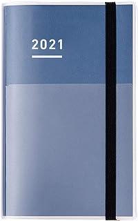 KOKUYO 国誉 自我手帐 *组套装 手账 2021年 A5 细长 月历&周历 靛蓝色 NI-JF1DB-21 2020年 11月开始
