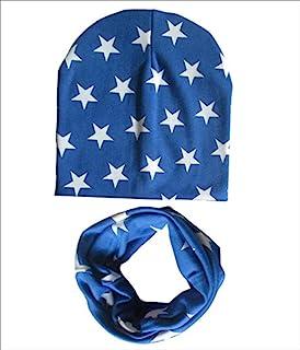 micia luxury(米西亚奢华)2件套 儿童 棉包头套+棉围脖 royal blue