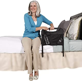 Able Life Bedside Home Safety Handle - Adjustable Safety Bed Support Handle + Organizer Pouch