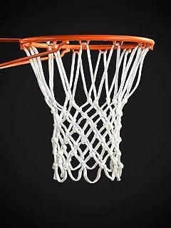 PackUnish 篮球网户外篮球网重型户外(190 克 / 6.7 英寸)篮球网替换12 个环,防鞭网适合各种天气标准 NBA 尺寸