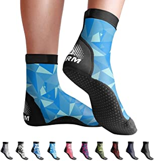 BPS Second Skin' 超弹力莱卡脂袜带适合浮潜、小池和所有游泳池、海滩和沙子活动 - 选择高剪裁或低剪裁
