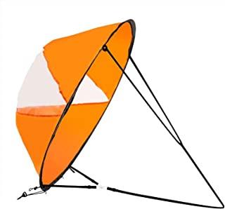 LoneRobe 42 英寸(约 106.7 厘米)下风帆套件皮艇风帆皮艇桨板配件,易于安装和快速部署,紧凑便携