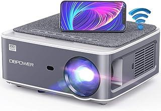 DBPOWER Native 1080P WiFi 投影仪,7500L 全高清户外电影投影仪,支持4D梯形校正,缩放,PPT,300英寸便携式迷你视频投影仪,兼容智能手机/笔记本电脑/DVD/电视/PS4