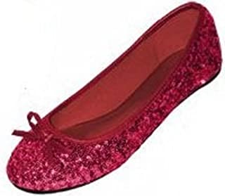 SHOES 18新款女式亮片芭蕾舞女芭蕾舞平底鞋5色可选