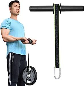 XonyiCos 前臂手腕滚轴健身玩具枪,手臂锻炼器手腕训练器,前臂肌肉强度锻炼工具,重量轴承绳辊设备带防滑垫, 哑铃绳绳
